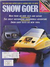 NOV 1983 SNOW GOER snowmobile magazine
