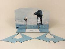 Custom Vintage Star Wars AT-AT Scène Toile de fond pour s'adapter original base blanche ver 3