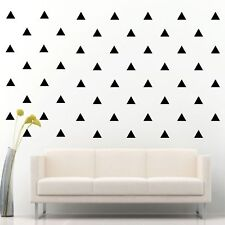 "96 of 3"" Black Triangle DIY Removable Peel & Stick Wall Vinyl Decal Sticker"