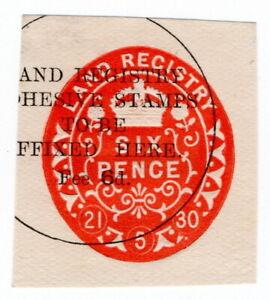 (I.B) George V Revenue : Land Registry 6d (impressed duty)