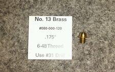 "#13 Shotgun Brass Front Bead Sight 6-48 .175"" Skirted Shoulder Qty (1)"