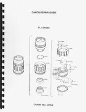 Canon FL Lenses Service & Repair Manual