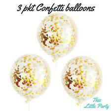 Gold & Silver Confetti Balloons - Pack of 3! Bachelorette or Birthday Decoration