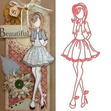 Pretty Girl Metal Cutting Dies Stencil for DIY Scrapbooking Card Craft AaGVx