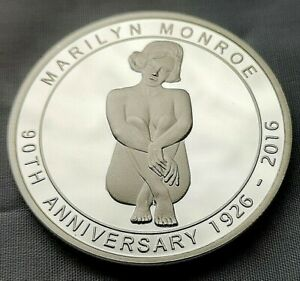Marilyn Monroe Silver 3D Coin Hologram Seven Year Itch Iconic Scene Nude Lady US