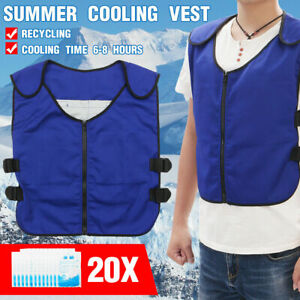 Ice Pack Cooling Vest Outdoor Fishing Adjustable Waist Anti High Temperature