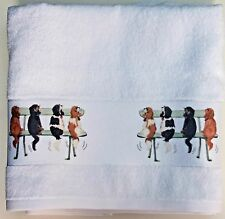 CAVALIER KING CHARLES SPANIEL DOGS LARGE HAND/GUEST TOWEL WAGGING CAVALIER PRINT