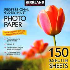 "Kirkland Signature 8.5"" x 11"" Professional Glossy Photo Paper 150 Sheets New!!"