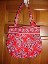 Vera Bradley Morgan purse shoulder bag Frankly Scarlet red black pink white NWT