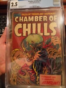 Chamber of Chills #23 CGC 2.5 **Classic Lee Elias Precode Horror Zombie Cover**