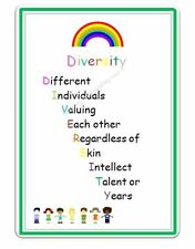 DIVERSITY MULTICULTURAL A4 POSTER CHILDMINDING RESOURCES EYFS READY MADE
