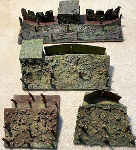4 Elastolin/Lineol Trench Fortification Models - Pre War - Very Rare