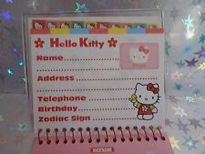 Rare 1998 Sanrio Hello Kitty My Friends Address Book Stickers Kawaii Vintage