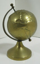 "Brass Decorative Desk Globe (Size: 6"" Tall)"