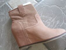 NEW LUCKY BRAND KENO TAN ANKLE BOOTS BOOTIES WOMENS 9.5 LEATHER