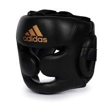 New adidas Leather Boxing HeadGuard Pro Training Headgear MMA MuayThai KickBxing