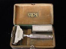 Vintage GEM Razor with Blade Holder and Original Metal Storage Box