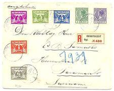 NEDERLAND 1929 REG CV OEGSTGEEST-PARAMARIBO RT#33/35 , 38/40 , 42    PR EX