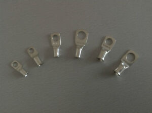 Ring Crimp Terminals Various Sizes Battery Cables Earth Cables Meter Tails Lugs