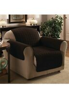 Sweet Home Collection Luxury Furniture Protector CHAIR Quilted Design Brown