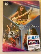 New Dvd 3 Movies Dc Universe Wonder Woman, Justice League & Aquaman