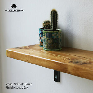 Scaffold Board Shelves, Rustic Industrial Reclaimed Wood Shelf - UK Handmade 🔨