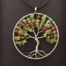 Cherry Tree of Life Necklace Pendent Handmade Spiritual Gift Heart Chakra