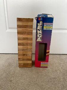 Jenga 1995 MB Games 100% Complete w/ Plastic Tray Wooden Blocks Vintage Retro