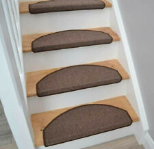 15 Piece Carpet Stair Tread Mats Step Staircase Floor Mat Protector Cover Pads