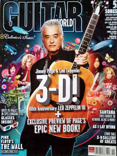 JIMMY PAGE  - GUITAR WORLD MAG - COVER STORY - NOV. 2010 - 3-D ISSUE + GLASSES