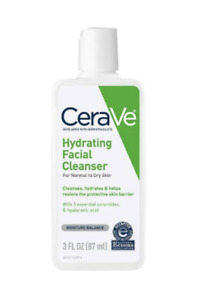 CeraVe Hydrating Facial Cleanser, For Normal to Dry Skin, 3 fl oz (87 ml)