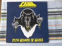 TANK Filthy Hounds of Hades RARE 1982 1st  Pressing LP- Superb NM Vinyl