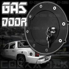 NEW BLACK GAS FUEL DOOR W LOCK 02-06 GM CHEVY AVALANCHE CADILAC ESCALADE