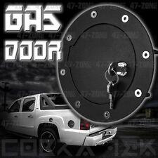 NEW BLACK GAS FUEL DOOR W/ LOCK 01-06 GMC CHEVY SIERRA SILVERADO 2500 3500