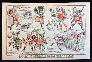 """Women's Suffrage 1913 """"Mr. Punch's Russian Ballet"""" by Bernard Partridge"""
