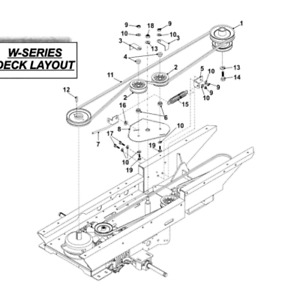 OEM Spec internal  Belt Fits Countax X Series Fitted with Tuff Torq K46 2WD,