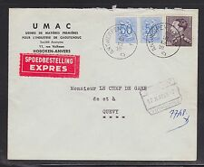 BELGIUM 1959 EXPRESS COVER ANTWERP TO QUEVY