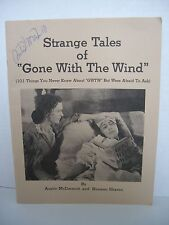 Strange Tales of 'Gone with the Wind' by Norman Shavin & Austin Mcdermott Autogr
