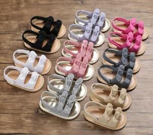 Newborn Baby Girl BowKnots Crib Shoes Infant Children Summer Sandals Size 1 2 3