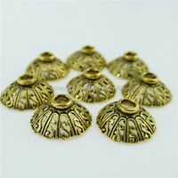 12762 70PC Antique Gold Tone Alloy Hollow S 14mm Spacer Bead End Beads Caps Hold