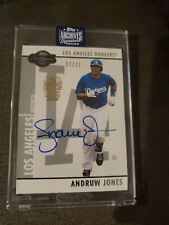 2002 Topps Archives Signature Series Andruw Jones 27/31 Dodgers Auto