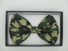 UNISEX ADULT KID MILITARY/ARMY GREEN CAMOFLAUGE ADJUSTABLE STRAP BOW TIE-NEW!