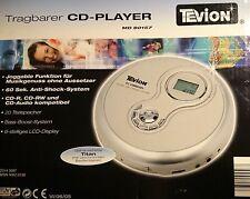 Tragbarer CD-Player MD 80157 Tevion Mit Netzteil + Kopfhörer Voll Funktionsfähig