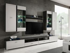 Salon moderne Ensemble meuble armoire TV Unité de Espace Blanc Clif
