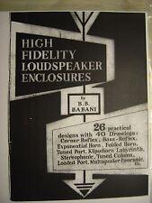 Klipshorn +26 gabinetes de altavoz de alta fidelidad Manual 40 dibujos