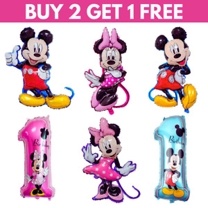 Disney Mickey MouseMinnie Mouse Balloons 1st Kids Birthday 3D Large Foil UK