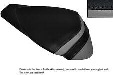 BLACK & GREY LEATHER CUSTOM FITS APRILIA RSV4 R 1000 09-15 REAR SEAT COVER