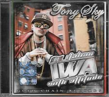 "TONY SKY - RARO CD RAP "" ITALIAN IWA WITH ATTITUDE "" AMIR  SANTO TRAFFICANTE"