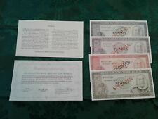 TONGA  COMPLETE 4 SPECIMEN SET 1978 w/COA  000749 CS1 P 19 - 22 UNC