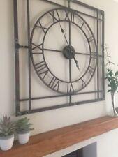 Square Industrial Quartz (Battery Powered) Wall Clocks